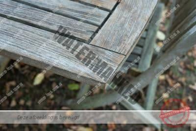 teakhouten tafel grijs